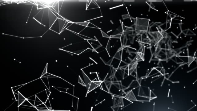 Abstract Futuristic Data Connections on Dark Background, Technology Concept video