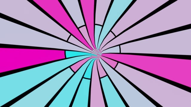 Abstract Futuristic pink blue speed tunnel 3d rendering