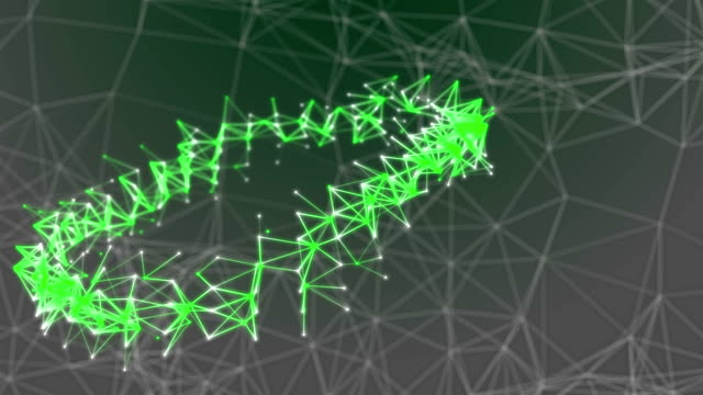 Abstract Futuristic Ring of Data Connections Background, Technology Concept video
