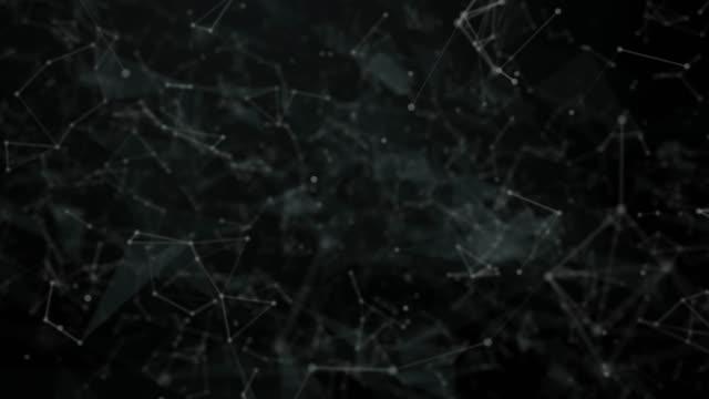 vídeos y material grabado en eventos de stock de fondo tecnológico futurista abstracto con líneas y puntos - constelación