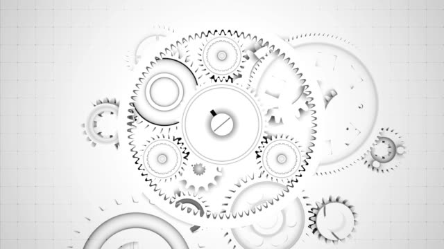 Abstract Gears Background - Seamless Loopable video