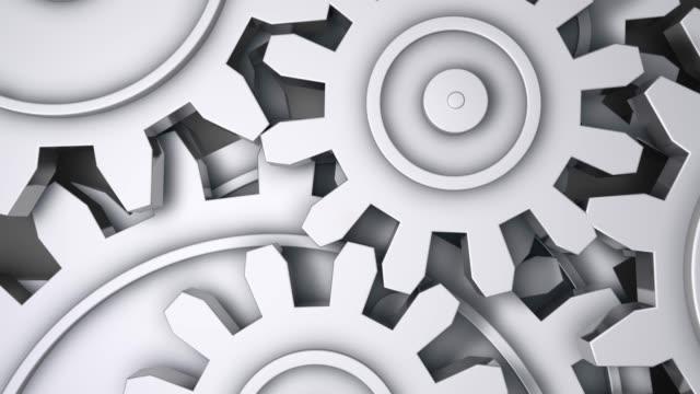 abstrakta gears bakgrunden - sömlös loopable - växelspak bildbanksvideor och videomaterial från bakom kulisserna