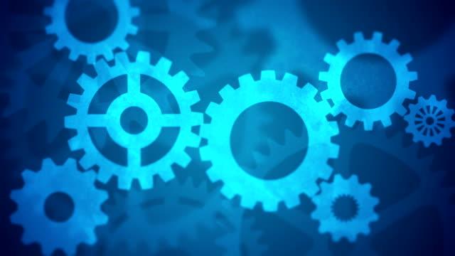 Getriebe Endlos wiederholbar blaue abstrakte – Video