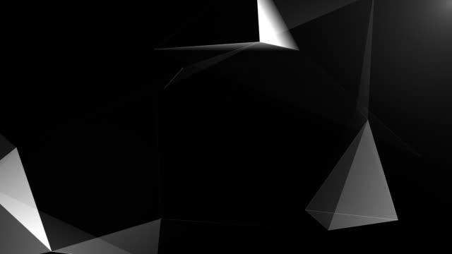 Abstrakten geometrischen Hintergrund nahtlose Schleife in schwarz / weiß – Video