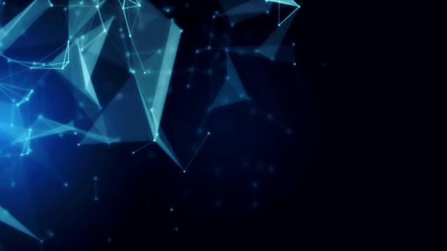 vídeos y material grabado en eventos de stock de fondo abstracto geométrico - plexo