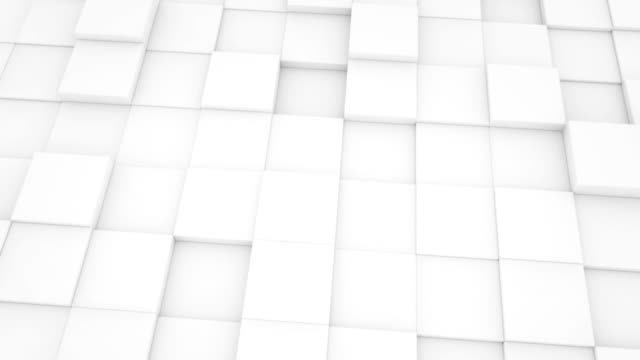 abstract geometric background white mat cubes moving loopable video