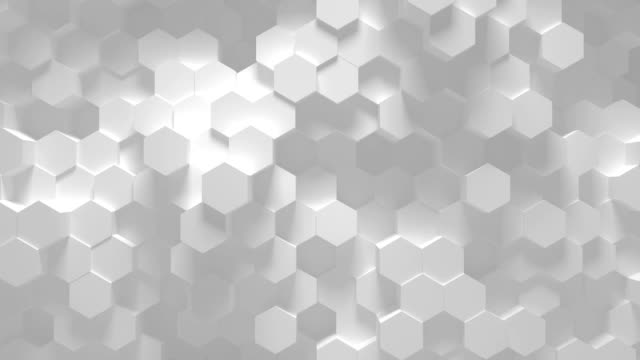 loop esagonale geometrico astratto - animazione 3d - esagono video stock e b–roll