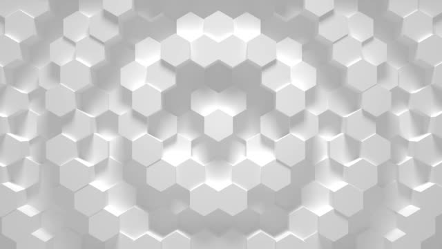 Abstract geometric hexagon loop - 3D animation Abstract geometric hexagon loop background - 3D animation wire mesh stock videos & royalty-free footage