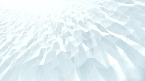 vídeos de stock e filmes b-roll de abstract geometric pattern background (white) - loop - branco