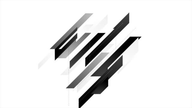 Abstract geometric polygon tech video animation video