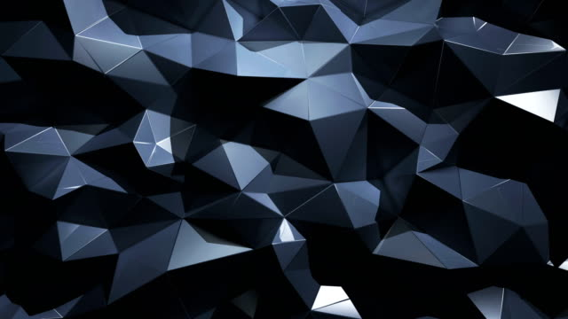 Abstract geometric polygonal triangle 4K background video