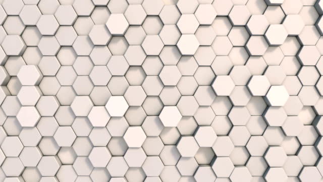 abstract geometric shape hexagon background loopable 4k - cromo metallo video stock e b–roll
