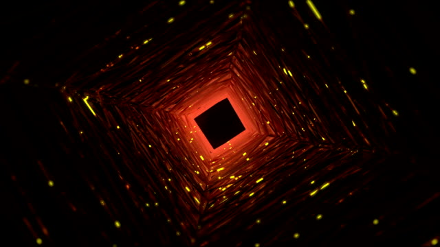 Abstract geometric shape tunnel background video