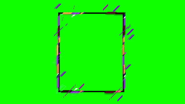4K Abstract geometric shapes frame
