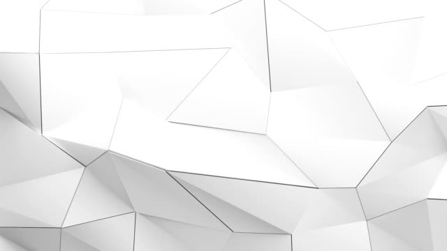 Abstract geometric triangle background in endless loop. Abstract wall of planes moving in organic way. The movement is perfectly looped.https://dl.dropboxusercontent.com/u/10812178/istock/abstract.jpg geometric background stock videos & royalty-free footage