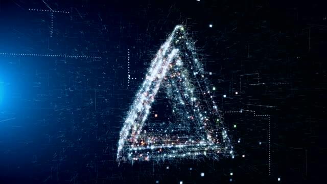 abstrakte geometrische dreieck hintergrund - rechteck stock-videos und b-roll-filmmaterial