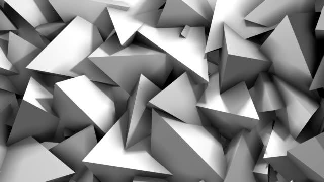 abstrakta geometriska triangel bakgrund - på gränsen bildbanksvideor och videomaterial från bakom kulisserna