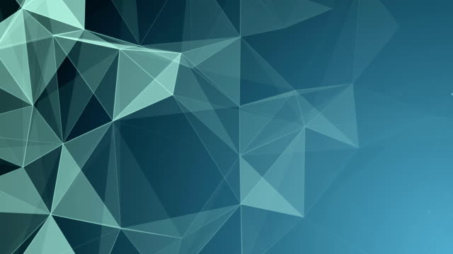 Abstract Geometric Triangles Background Blue video