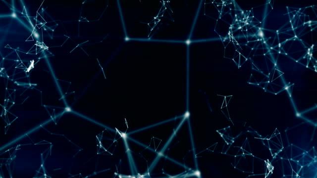 abstrakte geometrische dreiecke (endlos wiederholbar) - cosmic abstract background with stock-videos und b-roll-filmmaterial
