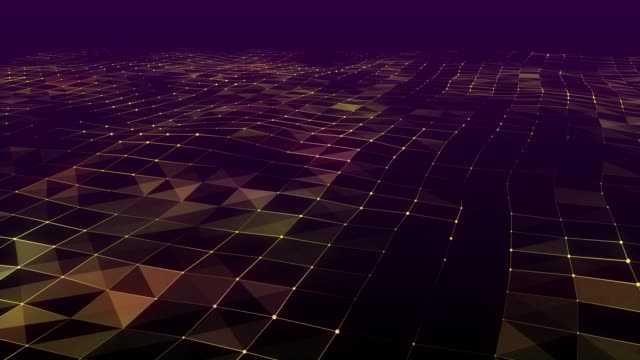 Abstract Geometric Triangles Wave and Technology Background