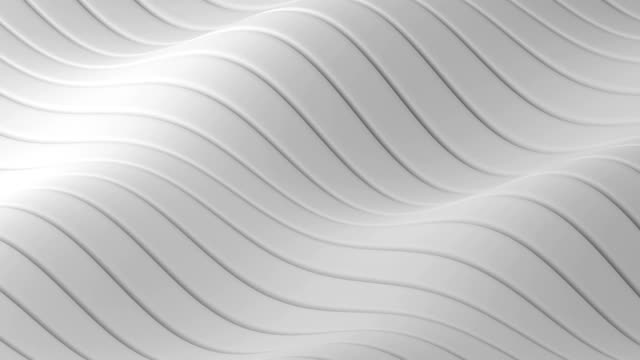 Abstract geometric waves loop - 3D animation Abstract white geometric waves loop - 3D animation low poly modelling stock videos & royalty-free footage