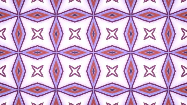 Abstract geometrical motion graphics background. Computer generated loop animation. Pink colored kaleidoscopic pattern. 3d rendering. 4K, Ultra HD resolution.