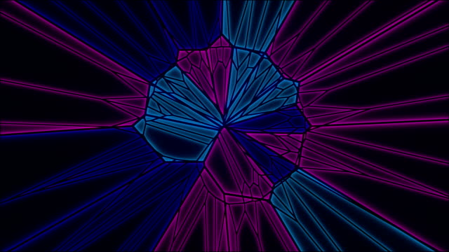 Abstract geometrical motion graphics background. Multicolored triangle pattern animation. 3d rendering. 4k UHD