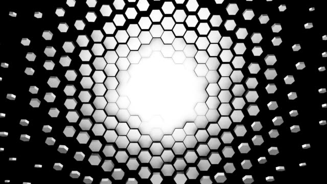 abstract geometry background loop - esagono video stock e b–roll
