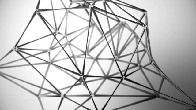 Abstract glass geometric network background monochrome video