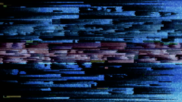 4K Abstract Glitch Technology Background video