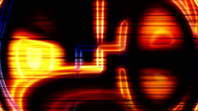 Abstract glowing changing forms. Neon light. video