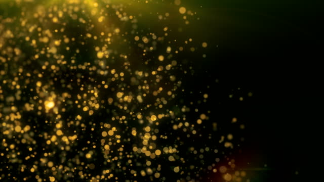 Abstract glowing particles