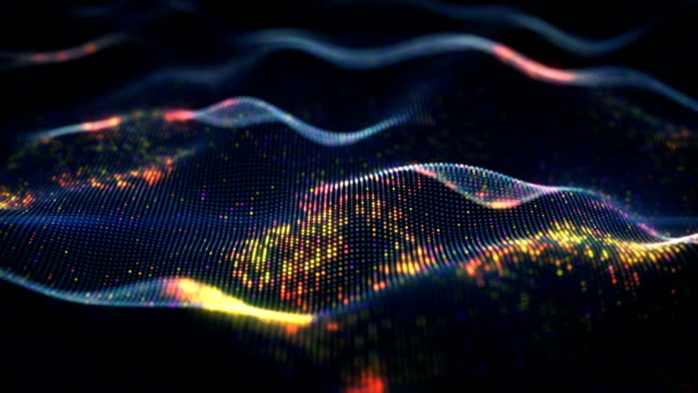 vídeos de stock e filmes b-roll de abstract glowing virtual neural network seamless loop animation - technology