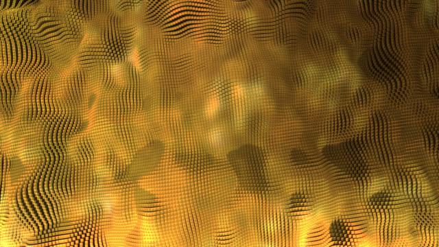 抽象的な金の背景、表面変換 ビデオ