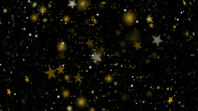 Abstract gold star with light background