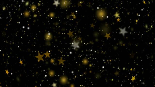 밝은 배경의 추상 골드 스타 - black friday 스톡 비디오 및 b-롤 화면