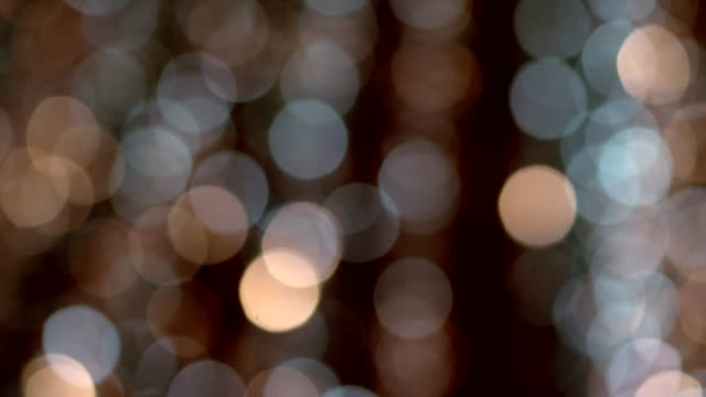 abstract Golden Bokeh background with shining defocus sparkles video