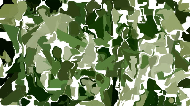 Abstract green camouflage background video