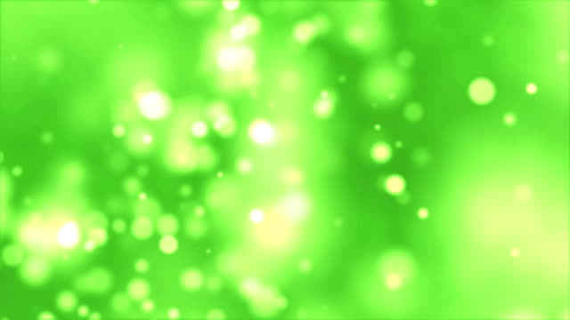 Abstract Green Particles Background - 4K video