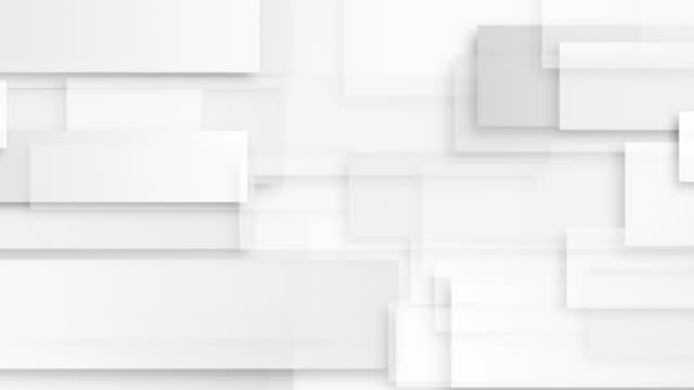 Abstract grey and white geometric minimal motion background. Seamless looping. Video animation Ultra HD 4K