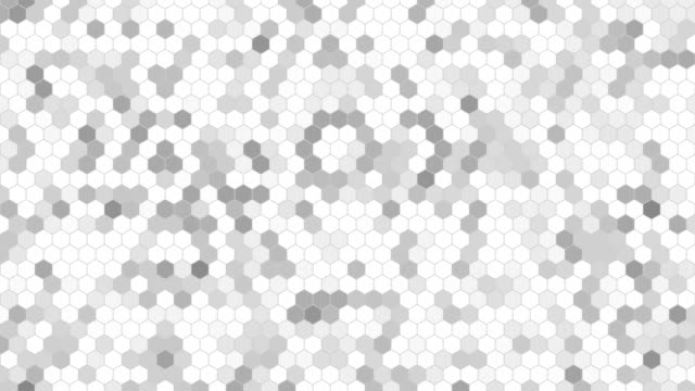 Abstract grey hex background. video