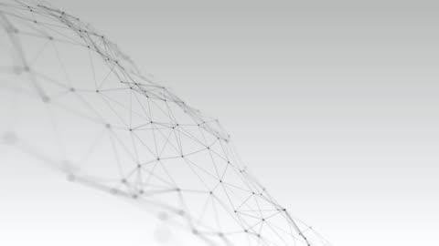 soyut gri pleksus nokta ve çizgi konisk arka plan - background stok videoları ve detay görüntü çekimi