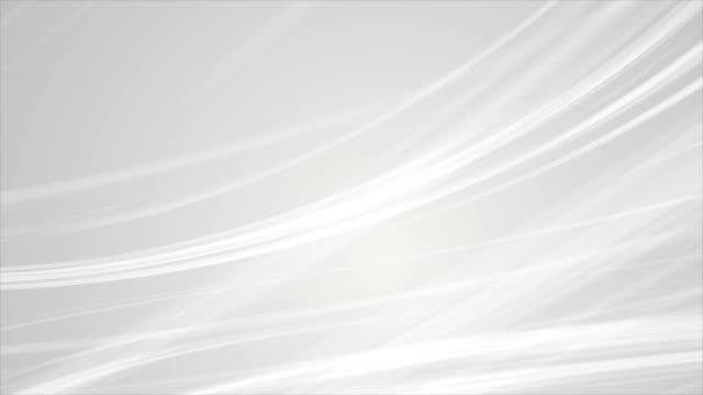 vidéos et rushes de abstrait gris lisse élégante waves animation vidéo - gris