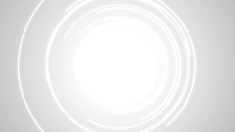 vídeos de stock e filmes b-roll de abstract grey tech circles video animation - branco