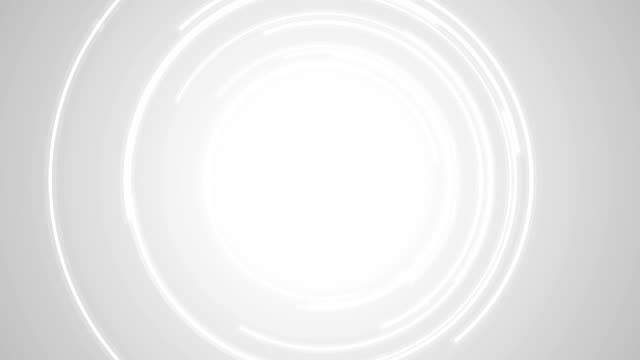 Abstract grey tech circles video animation video