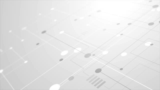 abstrakt grå tech kretskort linjer ritning rörelse design - enkelhet bildbanksvideor och videomaterial från bakom kulisserna