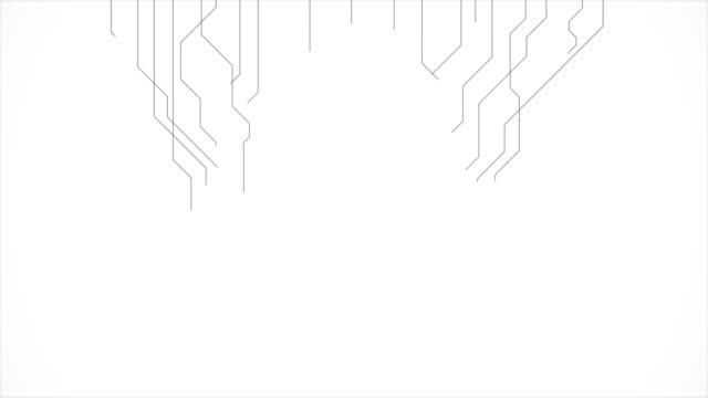 Abstract grey tech circuit board lines motion design
