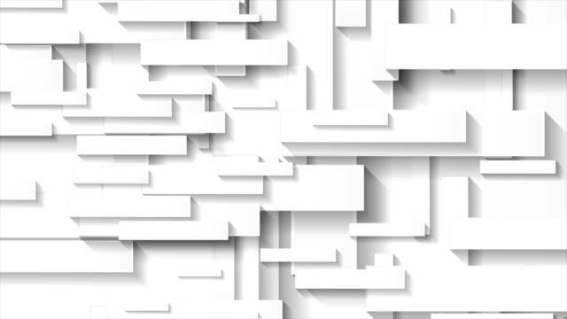 abstrakte graure technologie geometrische rechtecke video-animation - rechteck stock-videos und b-roll-filmmaterial