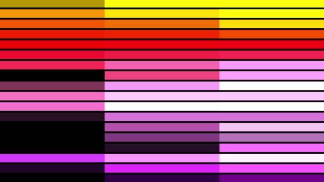 4k 抽象グリッドとラインデジタル背景アニメーションループ可能な要素、デジタル矩形フォームコンセプト - 連続文様点の映像素材/bロール