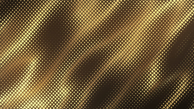 abstract grid background (dark gold) - loop - gold texture стоковые видео и кадры b-roll